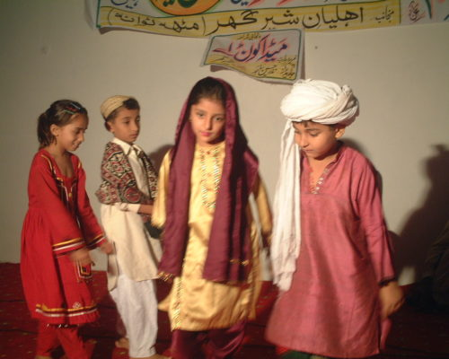 Children showing unity through our culture